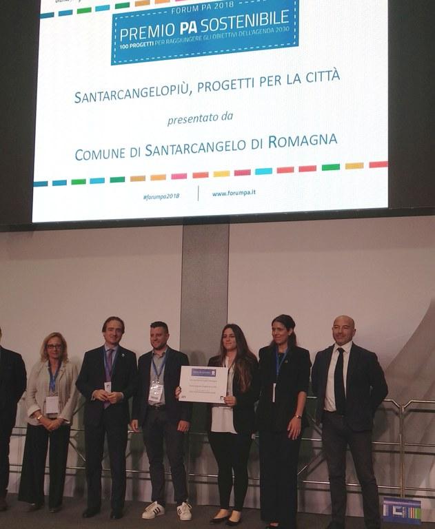 Santarcangelopiù premio PA sostenibile