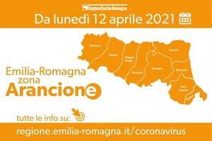 Coronavirus, dal 12 aprile l'Emilia-Romagna in zona arancione