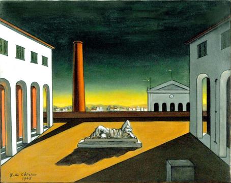 """""""Piazza d'Italia"""", 1948, Giorgio de Chirico (Collezione privata, Inghilterra)"""