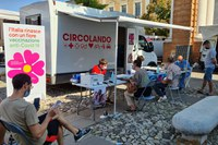 ll camper vaccinale ha fatto tappa al mercato di Santarcangelo