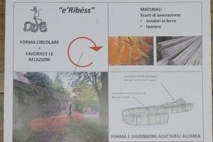 """""""e' Ribéss"""" il nome della terza panchina artistica di EcoNatale"""