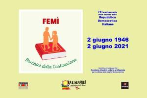 """""""Femí – Bambini della Costituzione"""", per il 2 Giugno una mostra sotto il porticato del Municipio"""