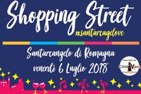 """Shopping Street"": venerdì 6 luglio Santarcangelo anticipa i saldi"