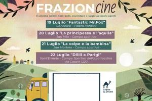 Al via Frazion-cine, dal 19 al 22 luglio le frazioni diventano un cinema sotto le stelle