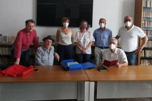 Alessandro Quasimodo a Santarcangelo per portare i documenti d'archivio di Teresa Franchini