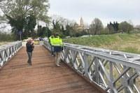 Aperto oggi il ponte Bailey a San Vito dopo i lavori di manutenzione