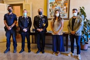 Carabinieri Forestali, il saluto del comandante Aldo Terzi alla sindaca Parma e all'assessore Sacchetti
