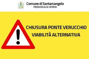 Chiusura ponte Verucchio, semaforo gestitomanualmente a Sant'Ermete