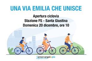 Ciclovia Stazione Fs-Santa Giustina, percorribile da domenica 20 dicembre
