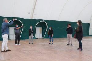Circolo Tennis, il sopralluogo degli amministratori sullo stato di avanzamento dei lavori