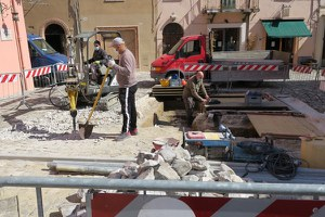 Piazza Balacchi, proseguono i sondaggi archeologici preliminari all'intervento di riqualificazione