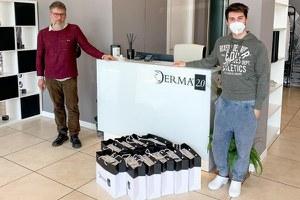 Coronavirus, 1.000 mascherine donate dall'azienda Derma 2.0 alla Protezione Civile Bassa Valmarecchia