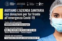 Coronavirus, oltre 20mila euro le donazioni a sostegno di Ausl Romagna e nuclei familiari in difficoltà