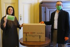 Coronavirus, per la Protezione civile bassa Valmarecchia 600 nuove mascherine in dono dall'azienda So.di.fer.
