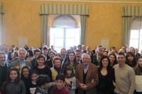 Il saluto di fine anno della sindaca Parma con l'omaggio a Lucio Bernardi e l'Arcangelo d'Oro alla famiglia Marchi