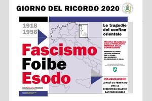 """Giorno del Ricordo, lunedì 10 febbraio inaugura la mostra """"Fascismo, foibe, esodo. Una tragedia del confine orientale"""""""