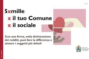 Il 5 per mille al Comune per sostenere le persone in  difficoltà e contrastare le nuove povertà