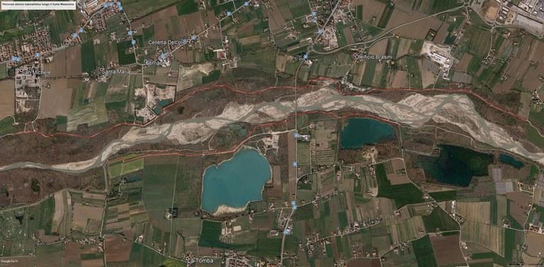 Percorso ciclopedonale storico-naturalistico lungo il fiume Marecchia