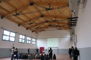 """Inaugurata la palestra della scuola media ex """"Saffi"""" dopo i lavori di miglioramento sismico"""