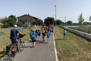 Inaugurato il nuovo percorso ciclopedonale di Sant'Agata, da via San Bartolo al centro parrocchiale in via Morigi