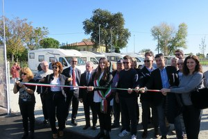 """Santarcangelo tra i """"Comuni del turismo in libertà"""", inaugurata l'area di sosta camper in via della Resistenza"""
