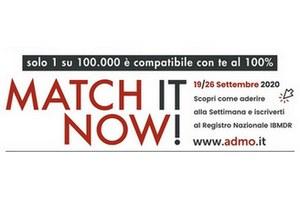 """""""Match it now"""", settimana nazionale per la donazione del midollo osseo"""