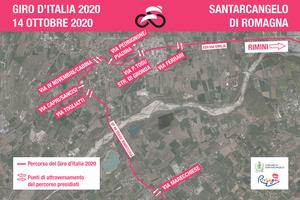 Mercoledì 14 ottobre il Giro d'Italia a Santarcangelo