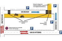 Mobilità sostenibile e sicurezza: in via Bruno Buozzi una nuova pista ciclabile