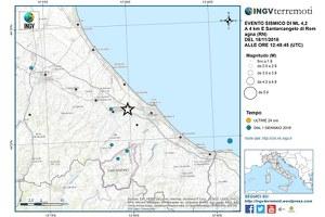 Scossa di terremoto a Santarcangelo, nessun danno a persone ed edifici