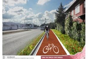 Via Emilia, entro un anno la nuova pista ciclabile tra Santa Giustina e la stazione ferroviaria