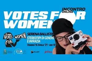 Votes for Women!, venerdì 16 aprile il terzo incontro della rassegna