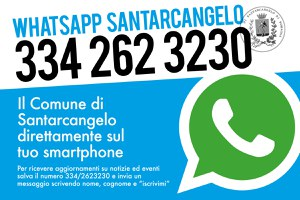 WhatsApp Santarcangelo, il nuovo canale informativo dell'Amministrazione comunale